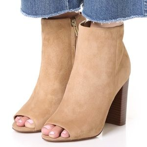 Sam Edelman Suede Peep Toe Ankle Booties